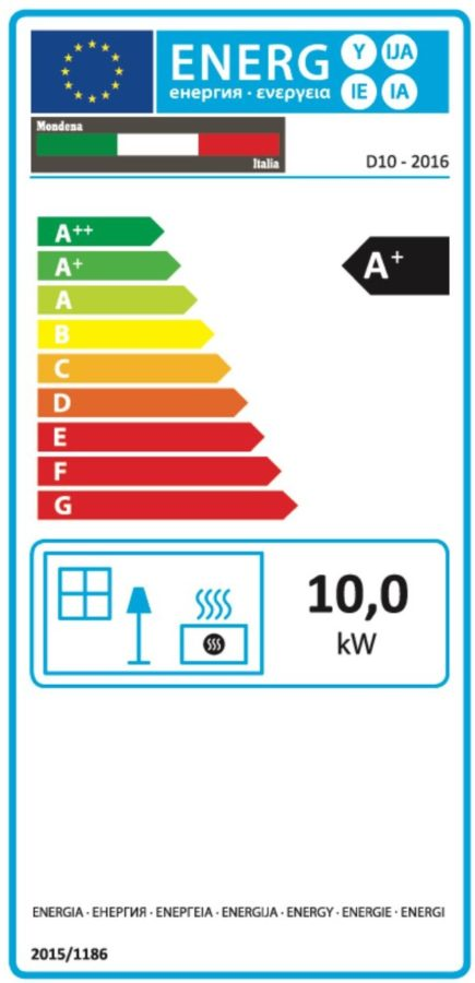 Mondena Pelletkachels - energielabel10kW